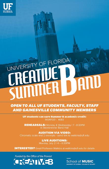 Creative B Summer Band Auditions | GainesvilleToday